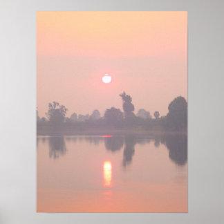 """Angkor Wat Sunset"" Poster"