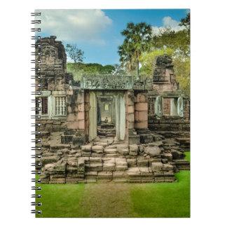 Angkor Wat temple Cambodia UNESCO Spiral Notebook