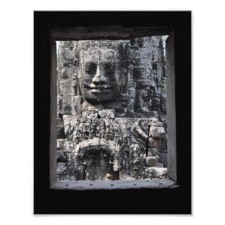 Angkor Wat thorough a ruin window Photo Print