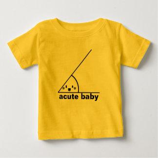 Angle aigu drôle geeky t-shirt pour bébé