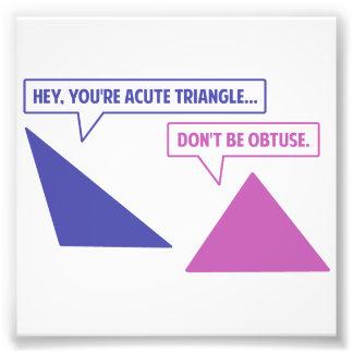 Angle obtus de triangle aiguë