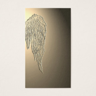 Angle Wings Wing Golden Light Business Cards