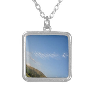 Angled Panorama Silver Plated Necklace