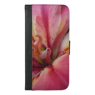 Angled Pink & Cream Lily iPhone 6/6s Plus Wallet Case
