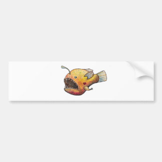 Angler fish love bumper sticker