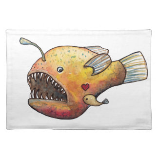 Angler fish love placemat