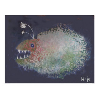 Angler Fish? Or a blob with teeth? Postcard