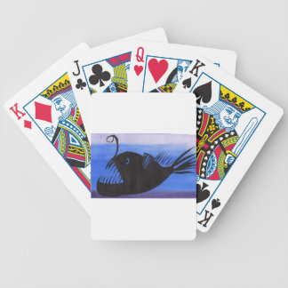 Angler Fish Silhouette Bicycle Playing Cards