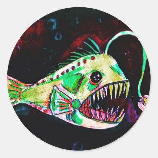 angler fish sticker