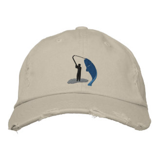 Angler Fisherman's Catch Embroidered Hat