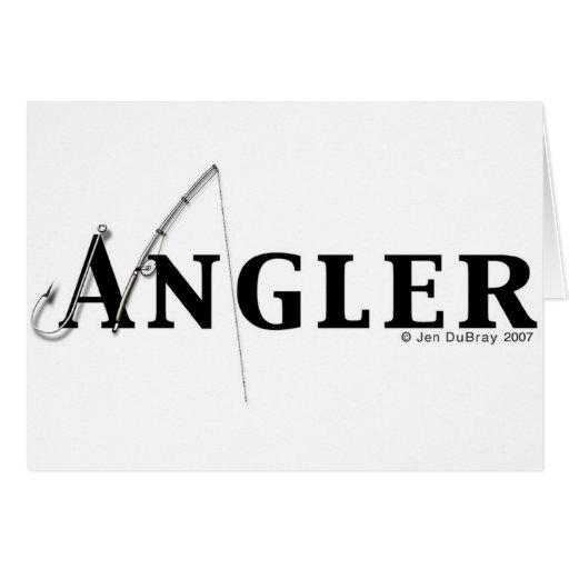 Angler logo greeting card
