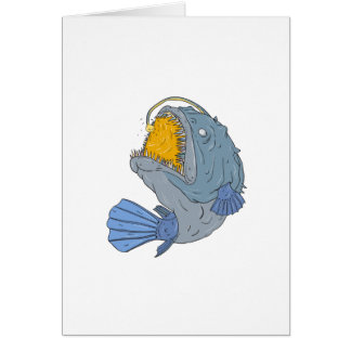 Anglerfish Swooping up Lure Drawing Card