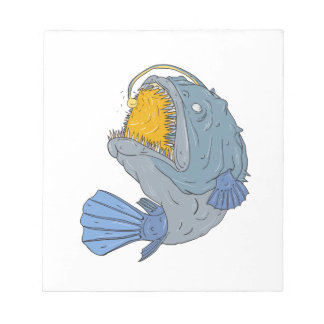 Anglerfish Swooping up Lure Drawing Notepad