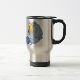 Anglerfish Swooping up Lure Drawing Travel Mug