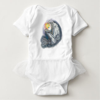 Anglerfish Swooping up Solar System Lure Watercolo Baby Bodysuit