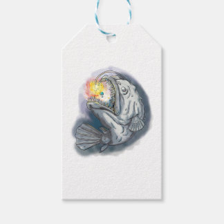 Anglerfish Swooping up Solar System Lure Watercolo Gift Tags