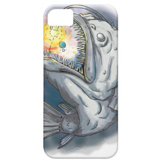 Anglerfish Swooping up Solar System Lure Watercolo iPhone 5 Case