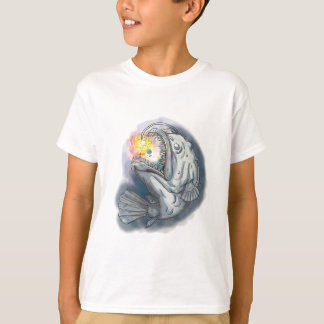 Anglerfish Swooping up Solar System Lure Watercolo T-Shirt