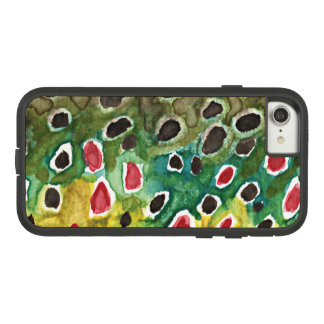 Angler's Brown Trout Skin Fly Fishing Case-Mate Tough Extreme iPhone 8/7 Case
