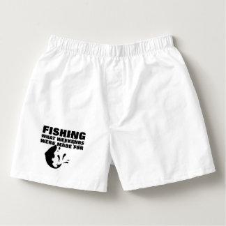 Anglers Fishing Themed Funny Slogan Boxers