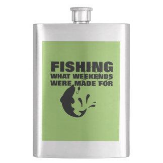 Anglers Fishing Themed Funny Slogan Hip Flask