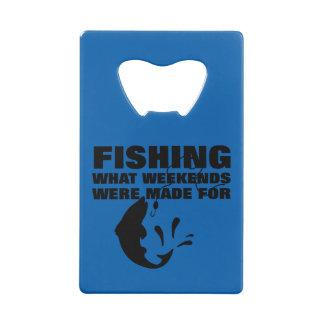 Anglers Fishing Themed Funny Slogan Wallet Bottle Opener