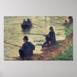 Anglers, Study for 'La Grande Jatte', 1883 Poster