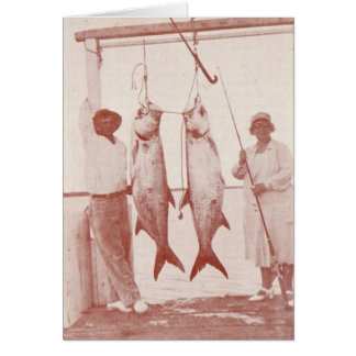 Anglers with Tarpons, Marco Island, Florida, 1930s Card