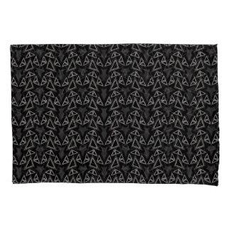 Angles Black Gray Modern Pillowcase Set