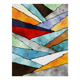 Angles of Textured Colors Poster