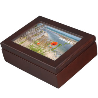 Anglesey Wales Scenic View Beach And Wild Poppies Keepsake Box