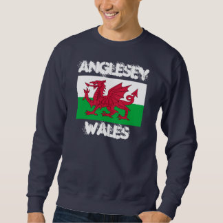 Anglesey, Wales with Welsh flag Sweatshirt