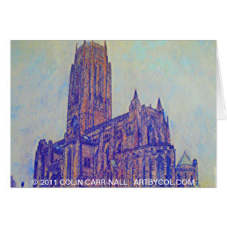 Anglican Cathedral Liverpool by Colin Carr-Nall Card