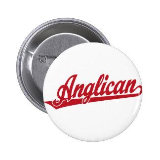Anglican Script Logo 2 Inch Round Button