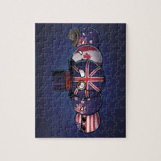 Anglo-Saxon Countryballs Jigsaw Puzzle