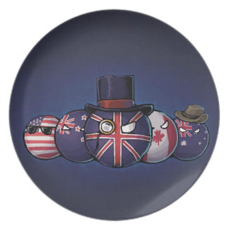 Anglo-Saxon Countryballs Party Plate