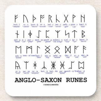 Anglo-Saxon Runes (Linguistics Cryptography) Beverage Coasters