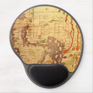 Anglo Saxon World Map Gel Mousepad