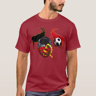 Angola 2010 face of Africa soccer cup gifts T-Shirt