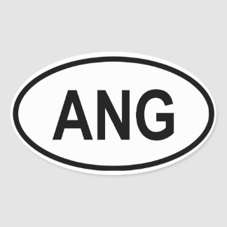 "Angola ""ANG"" Oval Sticker"