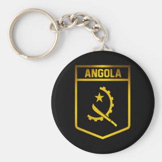 Angola Emblem Basic Round Button Keychain