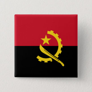 Angola Flag 2 Inch Square Button