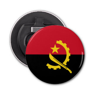 Angola Flag Bottle Opener