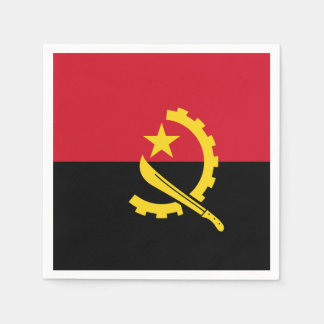 Angola Flag Disposable Napkin