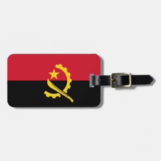 Angola Flag Luggage Tag