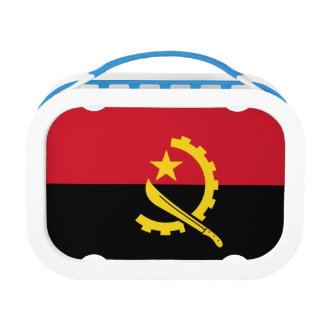 Angola Flag Lunch Box