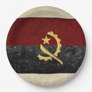 Angola Flag Paper Plates