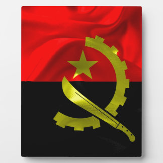 Angola Flag Plaque