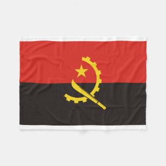 Angola National World Flag Fleece Blanket