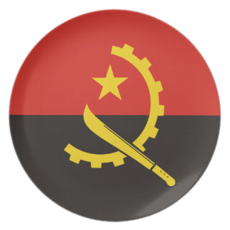 Angola National World Flag Plate